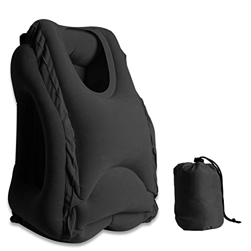 New Aonsen Inflatable Travel Pillow,Multifunctional Air Inflatable Pillow Portable Airplane Pillow,C...