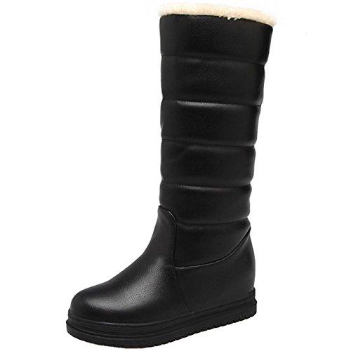 Plateforme Neige De Chaudes 1 Femmes Bottes Black Enfiler a RAZAMAZA Ewx4qOIXO