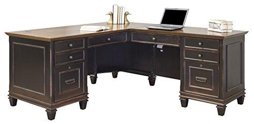 Martin Furniture Hartford L-Shaped Desk, Brown