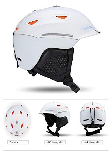 Kinnsemy Unisex Ski Helmet Breathable Ultralight Skiing Cap For Men Women Snowboard Skateboard Winter Outdoor Sports Safety as photo 1 L ()