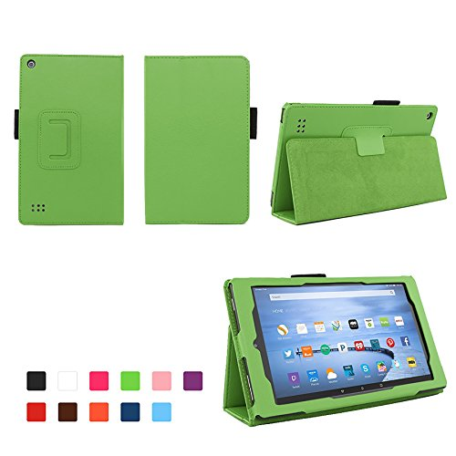 Case for Kindle Fire 7 Inch Tablet - Fire 7 Folio Case with Stand for New Kindle Fire 7 Inch Tablet - Green