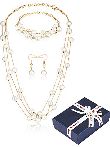 Hicarer Faux Pearl Jewelry...
