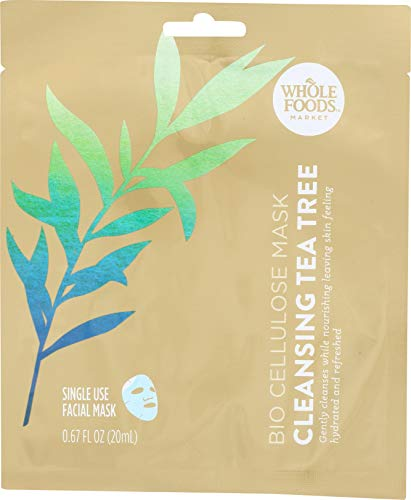 Whole Foods Market Bio Celulose Facial Mask Cleansing Tea Tree, 0.67 Ounce