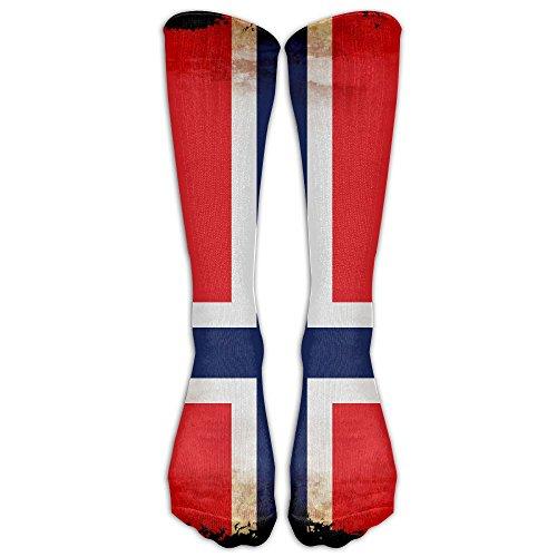 Cfcfy Retro Norway Flag Unisex Comfortable Stocking Socks Athletic - Online Norway Shopping