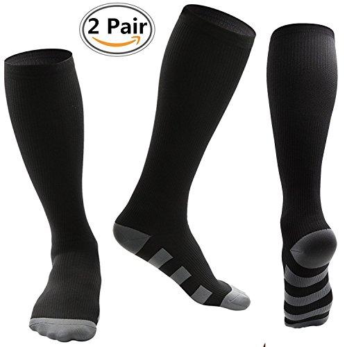 Compression Socks For Women and Men(Pair Of 2) by Copper Mate- Best Medical, Nursing, Travel & Flight Socks - Running & Fitness - 15-20mmHg