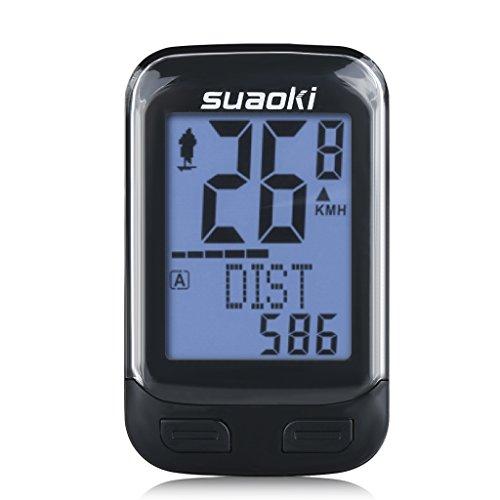 Suaoki Wireless 2.4GHz Transmission Bike Cycling Computer with Cadence...