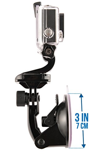 goma-industries-suction-cup-car-mount-for-gopro-hero6-hero5-hero4-hero3-all-gopro-cameras-and-camcorders-sjcam-sj4000-sj5000-garmin-virbx-xiaomi-yi-bundled-with-safety-tether-and-protective-bag