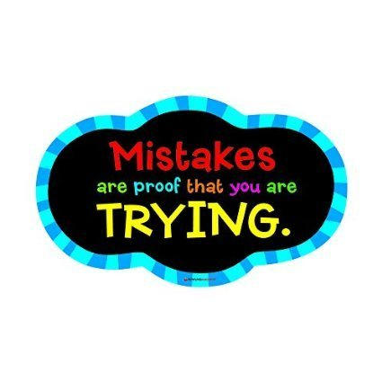 Dowling Magnets Magnetic Whiteboard Eraser: Mistakes Quote (DO-735252) by Dowling Magnets by DOWLING MAGNETS