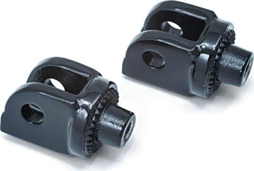 Splined Gloss Black Kuryakyn 8889 Footpeg Adapters