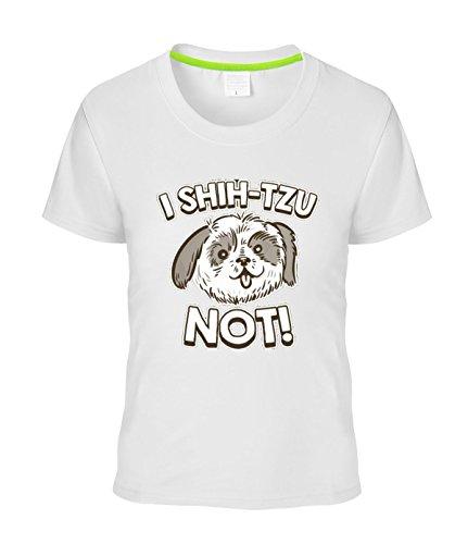 Eagle u2 women's Fashion T-shirt tee I Shih Tzu Not white