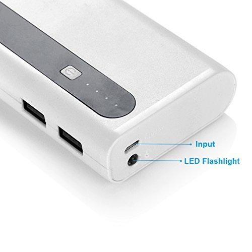 Aibocn 10000mAh electrica Bank mobile Charger for cellular phone Tablet by usually means of  Flashlight Grey mobile electrica Banks