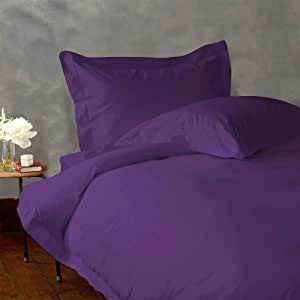 Lacasa Bedding Extra Sumptuous Egyptian cotton 18 Inches Deep Pocket Sheet Set 300 TC Solid (King , Purple )