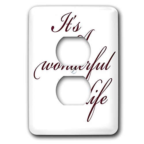 3dRose lsp_79141_6 Its A Wonderful Life- Inspirational Sayings 2 Plug Outlet Cover