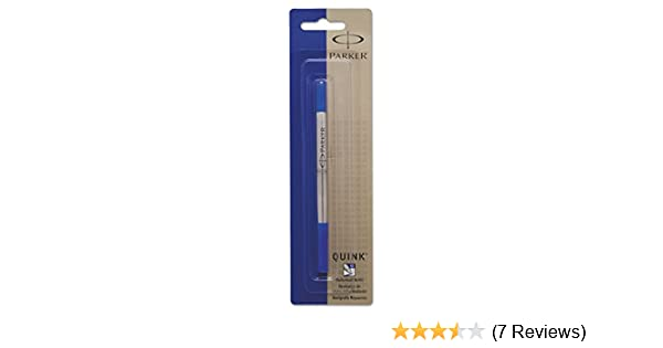 Parker Quink Ink RollerBall Medium Point Blue Ink Refill 6 Refills 3022531