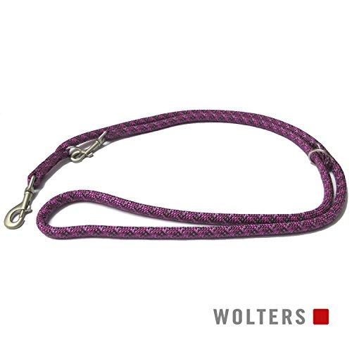 Wolters | Führleine Everest reflektierend in Fuchsia/Pflaume | L 200 cm x B 0,9 cm