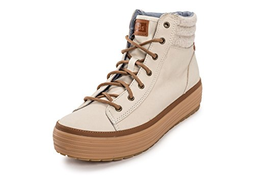 Keds High Rise Leather Wool Beige Beige 41