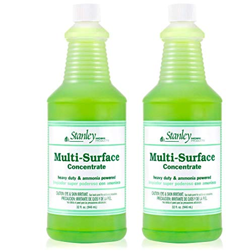 Stanley Home Products Premium Multi-Surface Concentrate – Professional All-Purpose Floor, Countertop & Tile Cleaner for Cleaning Vinyl, Ceramic and Grout (2 Pack)