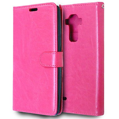 Cases & Covers, PU Leather + TPU Back Cover Wallet Case Flip Cover Photo Frame Case for LG G STYLO/G4 STYLUS ( Color : Ruby )