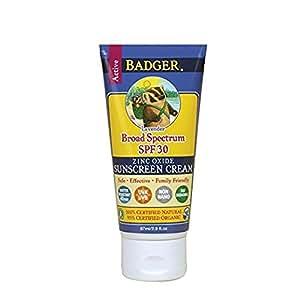 Badger SPF 30 Lavender Sunscreen Cream - 2.9 fl oz Tube