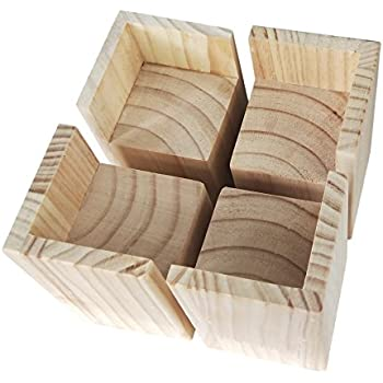 Amazon.com: Richards Homewares 5980-4 Wood Bed Lifters, Set of 4 ...