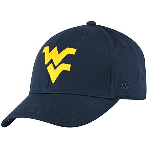 (NCAA West Virginia Mountaineers Men's Fitted Relaxed Fit Team Icon Hat, Navy)