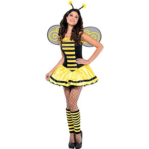 Amscan Adult Bumble Beauty Costume - Large (10-12), Multicolor -