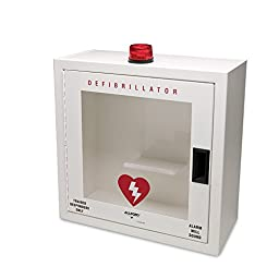 Allegro Industries 4210S Metal Defibrillator with Alarm and Strobe, Small, White
