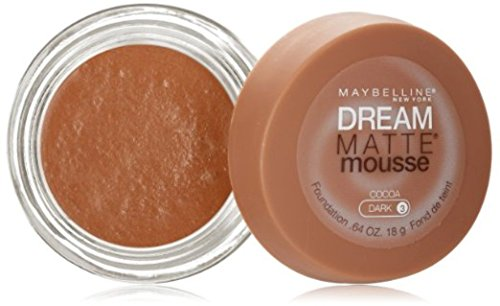 Maybelline Dream Matte Mousse Foundation, Cocoa, Dark 3 , 0.64 oz Pack of 3