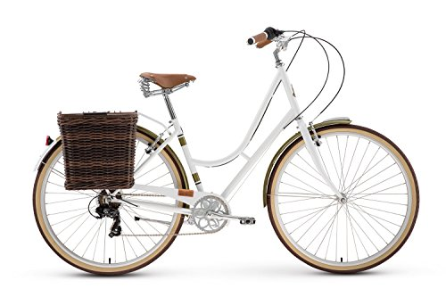 Raleigh Bikes Women's Superbe City Bike, White, 42cm/Small F