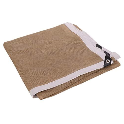 (ALWUD 90% Shade Cloth, Beige Shade Sails Garden Sun-Block Mesh Shade for Pergola Cover Canopy,9x18ft/3x6m )