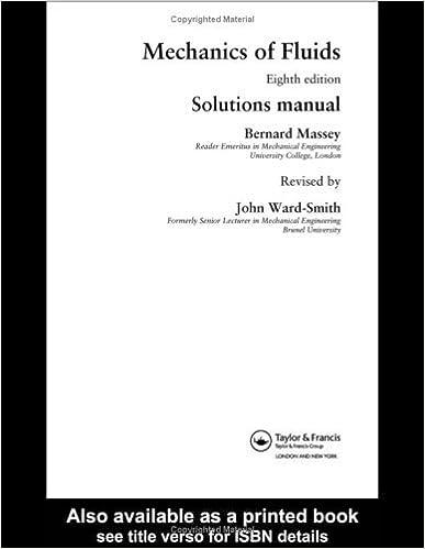 Machanics Of Fluids Solutions Manual Eighth Edition Bernard