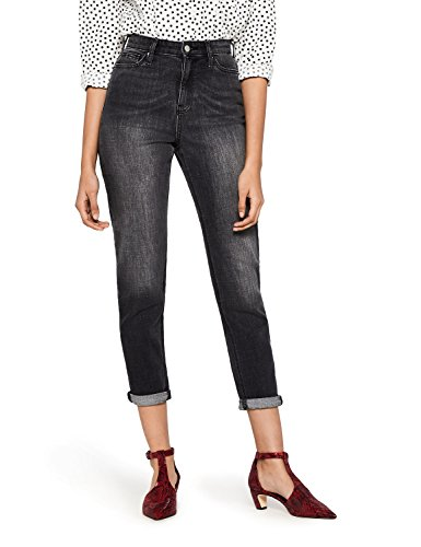Taille Jean Mom FIND Black Femme Haute Washed Court Noir Fa6tgnxq