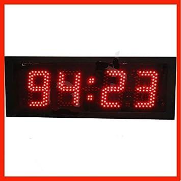 7 GOWE grande segmento luz led digital reloj de pared: Amazon.es: Bricolaje y herramientas