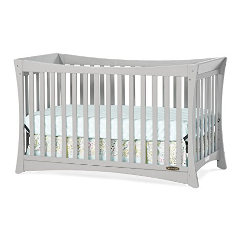 Grow Sleigh Crib (Child Craft Parisian 3-in-1 Convertible Crib, Cool Gray)