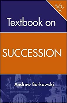 Book Textbook On Succession by J. Andrew Borkowski (2005-02-24)