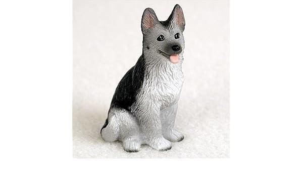 Norwegian Elkhound Mini Hand Painted Figurine