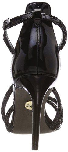 Buffalo 317-2934 Mirror PU, Sandali con Cinturino Alla Caviglia Donna Nero (Black 01)