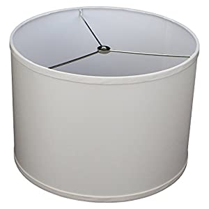 "FenchelShades.com 14"" Top Diameter x 14"" Bottom Diameter 10"" Height Cylinder Drum Lampshade USA Made (Ivory)"