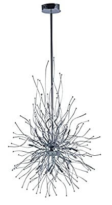 ET2 E24674-PC Orion LED Single Pendant, Polished Chrome Finish, Glass, G4 LED Bulb, 3W Max, Dry Safety Rated, 2900K Color Temp, Low-Voltage Electronic Dimmer, Glass Shade Material, 750 Rated Lumens