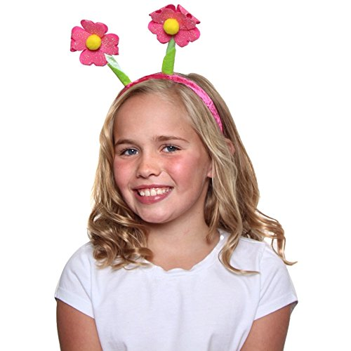 Hot Pink Glitter Flower Bopper Headband