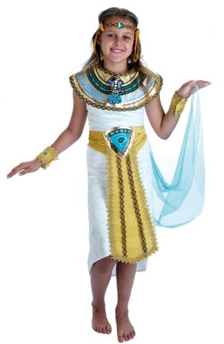 Uk Cleopatra Costume (Cleopatra Egyptian Childs Fancy Dress Costume - XL 58inch)