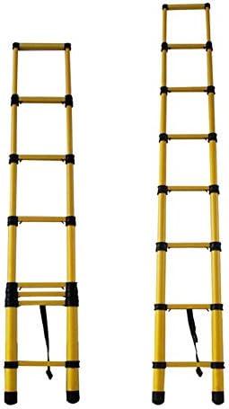 Escalera extensible telescópica Escalera de Extensión Telescópica de Fibra de Vidrio, Escaleras de Mano Extensibles Portátiles, para El Hogar Comercial Industrial Diario, Capacidad de 330 Libras: Amazon.es: Hogar