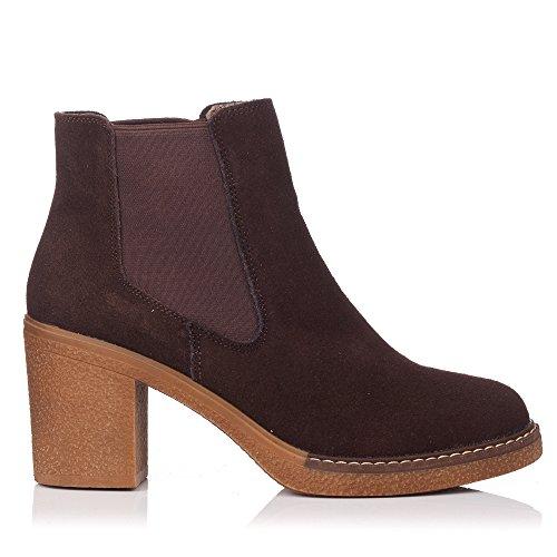 ZAPP Boots ZAPP Chelsea Marron femme Boots 8gwOrHx8