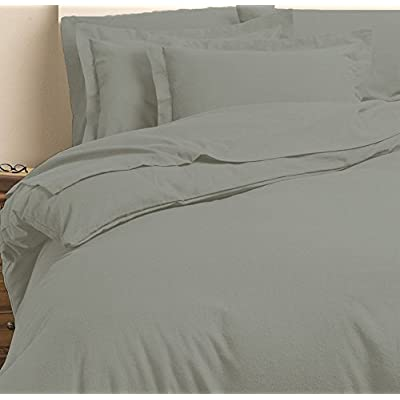 Image of 1000 Thread Counts Hospital-XL Size Light Grey Solid 7pc Bed in A Bag (with 500GSM Comforter & 10' Deep Pocket Fitted Sheet) 100% Egyptian Cotton - by AP Beddings Home and Kitchen