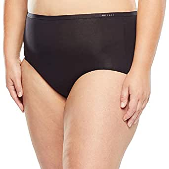 Berlei Women's Underwear Microfibre Nothing Naturals Full Brief, Black, 10