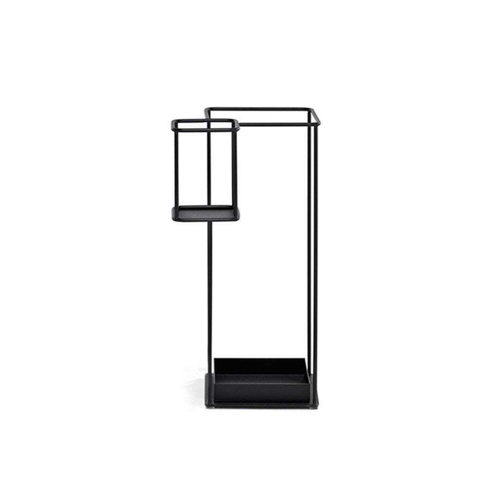 UMBRELLA STANDS HOME 正方形の補強の鉄の芸術の大容量の創造的な傘の立場/オフィスのホテルの芸術の移動式傘のバケツ/バルコニーの湿気防止の実用的な傘の収納ラック31 * 60 cm収納ホルダー B07RLJ8QFS