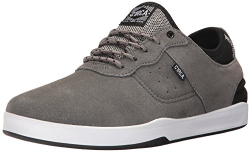 C1RCA Men's Salix Surefit Ultraflex Fusion Grip Skate Shoe, Charcoal/Black, 11.5 Medium US