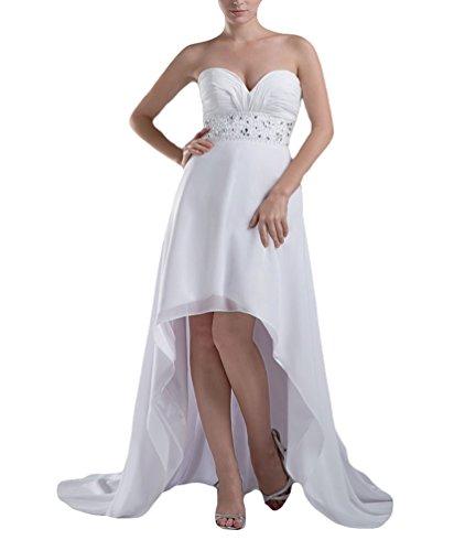 TBGirl Summer Beach Chiffon Wedding Dresses High Low A line Bridal Gown 41flQbu 86L home Home 41flQbu 86L