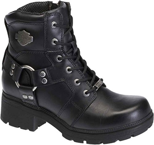 Harley-Davidson Women's Jocelyn Motorcycle Boot, Black, 7 M US