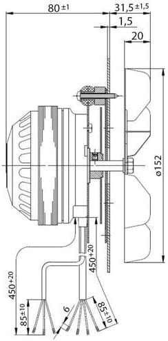 EasyErsatzteile L/üfter f/ür Pelletofen 32 W EBM R2E150-AN91 V 150 mm 2400 RPM EdiLKAMIN Karnek Palazzetti Royal Eva Calor Thermorot Cola